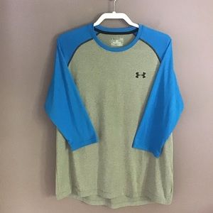 Under Armour 3/4 Sleeve Gray Shirt Large
